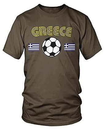 Amdesco 男士希腊足球,Hellas,希腊足球 T 恤,深巧克力色 3XL