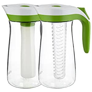 Contigo AUTOSEAL 投手套装,带Infuser 棒和冰芯,72 盎司绿色 Two-Pack 72 ounces 2PITPACK