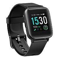 BUDAOLIU *版智能手表,适用于 Android 和 iOS 手机,健身追踪器带心率监测计步器*追踪器,防水智能手表兼容 iPhone 三星