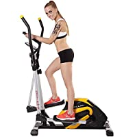 健身车磁控家用静音椭圆机太空漫步机运动黄
