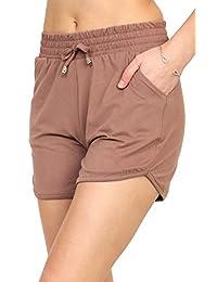 VIV Collection 女士印花拉绒超软休闲夏季短裤带口袋40 幅印花