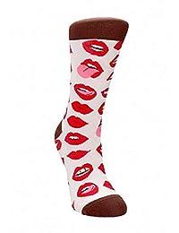 性感袜子由 Shots 设计有趣的袜子印花性感双唇 36-41,35 克