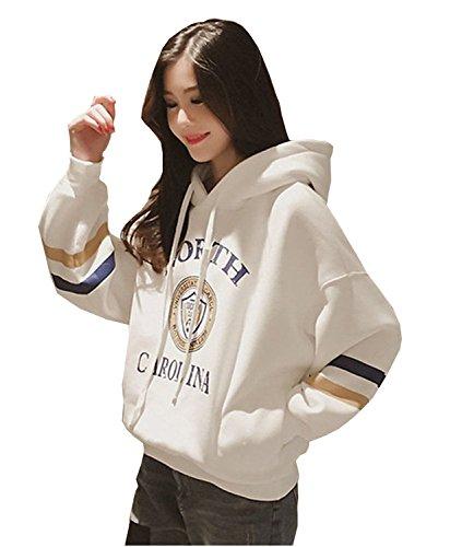 FABEILAIセーター新しい女性の2017年秋の新しい大きいサイズの長袖BFフリースレター印刷ファッションフード付きカジュアルコート緩いカップルのセーターの女性の潮7271
