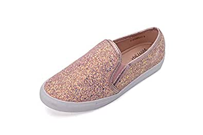 GREENS CORRNELIA 女式帆布一脚蹬部落图案时尚运动鞋, 玫瑰金 5.5 B(M) US