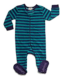 Leveret Fleece 男婴女童连脚睡衣睡衣幼儿和学步睡衣(3 个月-5 幼儿)