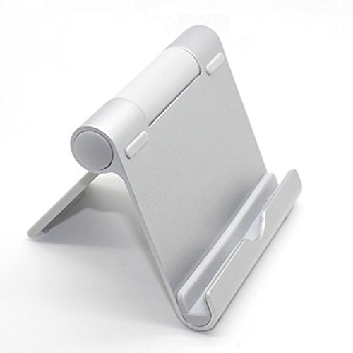 Whirldy 手机支架 桌面 懒人支架 ipad支架 kindle 支架 手机平板通用 多功能 创意折叠 铝合金 时尚 (太空银)
