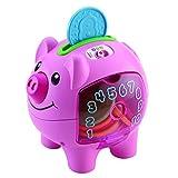 Fisher-Price Smart Stages 小猪银行,婴儿电子教育玩具,带歌曲和短语和灯光教学计数,数字,颜色,6 个月以上