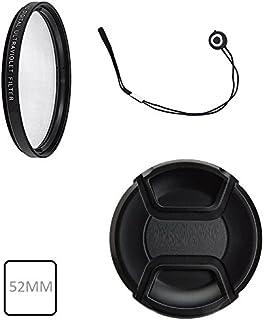 52mm 紫外线防护滤镜 Ultraviolet 过滤器适用于尼康 D3000、D3100、D3200、D5000、D5100、D5200、D7000、D7100、D80、D90、D100、D200、D300S DSLR(适用于带 52 mm 滤镜螺纹的镜头)