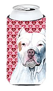 Pit Bull Hearts Love and Valentine's Day Portrait Michelob Ultra Koozies for slim cans SC9258MUK 多色 Tall Boy