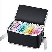 80 色图形记号笔,艺术家必备永久艺术马克笔双记号笔动画设计用于绘画上色、亮光和下衬里 白色 168 Color 80 Color marker