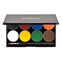 Mehron 化妆天堂 AQ 面部和身体颜料,8 色调色板