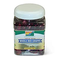 Mother Earth Products Freeze Dried Whole Red Grapes Quart Jar, 5.875 Pound
