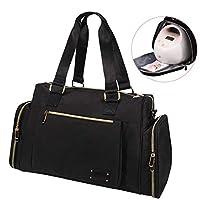 吸奶器手提袋,Momcozy 24L 大容量旅行尿布袋 - 隔热口袋和肩带 - 适合大多数吸奶器,如 Spectra、Lansinoh、Avent、Medela Cooler Bag等