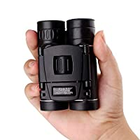 10x22 大功率双筒望远镜,适用于成人 | 小巧紧凑 | 重量轻,夜视弱 | 非常适合户外、观鸟、运动、游戏和音乐会