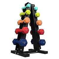 Fitness Republic 实心钢哑铃架组合,A 型哑铃收纳架,自由重量哑铃套装,适合家庭健身房锻炼,3/5 层重量架,适用于哑铃,重量塔,3/5 支架