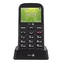 Doro 7383 英寸 1361 英寸 Easy 手机电话 黑色