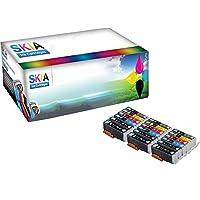Skia 18 件裝灰色 CLI-271XL 271 XL PGI-270XL 270 XL 替換墨盒適用于佳能 PIXMA MG7700 PIXMA MG7720 PIXMA TS8020 PIXMA TS9020 CLI271 PGI270