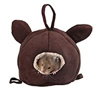 ROZKITCH 小动物栖息地,仓鼠迷你房子,鸟吊床玩具,鸟巢穴穴婴儿刺猬奇拉豚鼠鼠松鼠猫鼠糖滑翔器睡觉玩耍