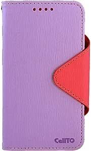 CellTo 人造皮革日记对开式手机壳适用于三星 Galaxy Note II - 零售包装 - 薰衣草/粉色