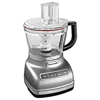 KitchenAid KFP1466CU 14-Cup Food Processor with Exact Slice System and Dicing Kit - Contour Silver 需配變壓器