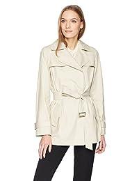 Calvin Klein 女式风衣外套带腰带