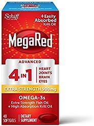 Schiff MegaRed 強力魚油+南極磷蝦油膠囊900mg 40粒裝 4 in 1