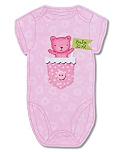 American Greetings Snuggle Bunny New Baby Girl 带箔祝贺卡 Little Girl 全新婴儿祝贺卡