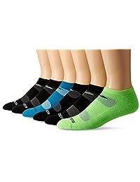 Saucony 圣康尼男士竞赛透气短袜6双装