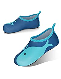 JOTO 水鞋沙滩袜儿童幼儿女宝宝男孩赤脚速干防滑游泳袜海滩游泳池水上公园 6-7 M Toddler