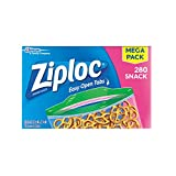 Ziploc 零食袋,280 片 Snack Bags 280 Count 280