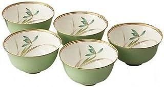 香蘭社 金边兰纹淡绿色茶杯套装 F1180-CQQ