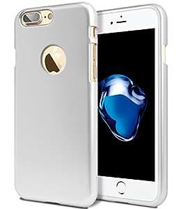 iPhone 7 Plus 手机壳【修身款】GOOSPERY i-Jelly 【金属表面】优质【灵活】【减震】TPU 手机壳【抗变色表面】苹果 iPhone 7 Plus(5.5 英寸) [for iPhone 7 Plus ONLY] Silver