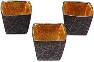 有田烧 结晶镀金 角杯(3个套装)(4.8×4.8×4.2cm)