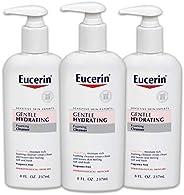 Eucerin 优色林 BEIERSDORF536300 温和保湿泡沫洁面乳-无香料,温和洁面-8液体盎司(237ml)按压瓶,3件装