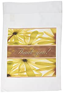 BEVERLY TURNER thank YOU 设计–黄花 thank YOU–旗帜 12 x 18 inch Garden Flag