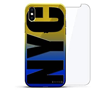 Luxendary 渐变系列 360 套装:透明超薄硅胶保护套 + 适用于 iPhone Xs Max 的钢化玻璃(6.5 英寸)LUX-IMXCRM2B360-NYC1 CITIES & STATES: BOLD BLACK NYC 蓝色(Dusk)