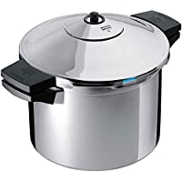 Kuhn Rikon 3342 5-1/4 夸脫不銹鋼壓力鍋,銀色,6 夸脫
