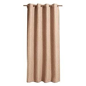 Hodeco 遮光窗帘 遮阳帘 灯罩 隔热窗帘 隔热窗帘 * 涤纶 遮光窗帘 遮阳帘 Light Brown Linen 53x63 Inches