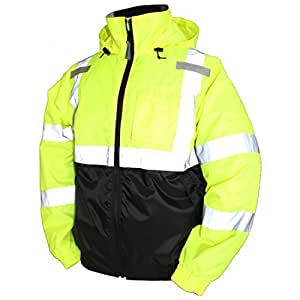 Tingley Rubber J26112 Bomber II Jacket, 5X-Large, Lime Green 3X-Large