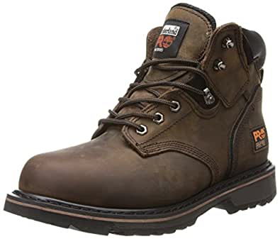"Timberland PRO Men's Pitboss 6"" Steel-Toe Boot Brown/Brown 7 M"