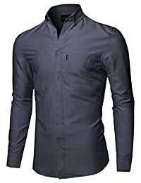 Style by William Men's Basic Button Down Collar Chambray Shirt