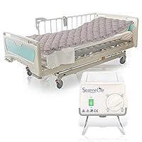 压力床垫气泡垫 - 包括电动泵系统安静,压力充气床,Ulcer 和压力酸痛处理 - 标准*床尺寸 (SLAIRMATR45)