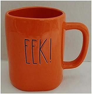 Rae Dunn Artisan Collection by Magenta EEK Solid Orange Halloween Coffee Tea Mug LL