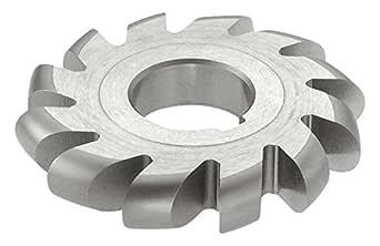 "KEO Milling 13810 大直径凸面铣刀,""CVL""样式,1-1/4""轴孔,14 齿,5/8""凸面半径,1-1/4""圆径,6""切割直径,HSS,无涂层"