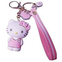 Hello Kitty 女士钥匙链 ❤Hello Kitty 礼物❤   Hello Kitty 人物Sanrio 生日礼物袋配件