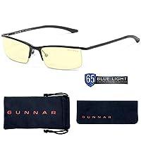 Gunnar Optiks Emissary 半框高級計算機眼鏡鏡片,方框眼鏡,琥珀色 縞瑪瑙色