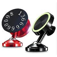 适用于 iPhone、Samsung 及其他手机的磁性车载支架,磁性车载手机支架,汽车手机支架,磁性手柄,吉普仪表板 Luxury Red