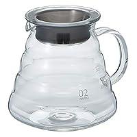 HARIO 好璃奥 日本原装进口 云朵咖啡壶 玻璃 冲泡咖啡壶茶壶XGS-60TB 600ml 黑色(亚马逊自营商品, 由供应商配送)