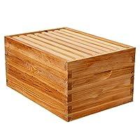 重蜡涂层 Langstroth 10 框深/Brood 盒,带框架和蜂蜡涂层底板