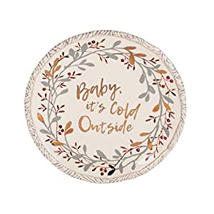 Fitz and Floyd 49-794 Wintry Woods 包脚碗 配有撒片 Holiday Serving/Sharing Plate 9.75 英寸
